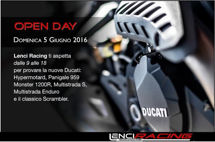 Open Day Ducati 5 Giugno 2016